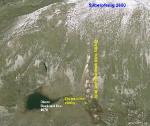 Zbytky důlní činnosti u jezera Obere Bockhart See