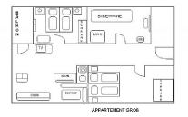 Velký apartmán - schéma