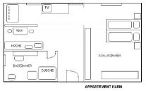 Malý apartmán - schéma