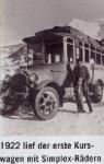 Horský autobus z roku 1922
