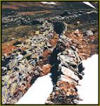 Schneekragen, přístupové cesty k dolům, chráněné před lavinami