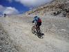 Cyklistika ve výši 2850 m n. m (Mölltálský ledovec)